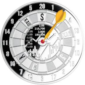 現貨 - 2021喀麥隆-紐約證券交易所-靶心-1盎司銀幣