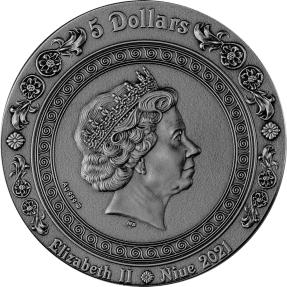 現貨 - 2021紐埃-海妖美人魚-2盎司銀幣
