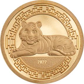預購(確定有貨) - 2022蒙古-生肖-虎年-0.5克金幣