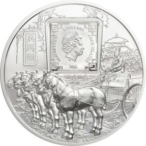 現貨 - 2021庫克群島-兵馬俑-1盎司銀幣
