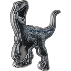 現貨 - 2021紐埃-侏羅紀世界-迅猛龍(藍)-造型-2盎司銀幣