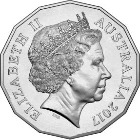 現貨 - 2017澳幣50分-雞年-硬幣-卡裝(非流通幣)