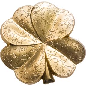 現貨 - 2020帛琉-四葉草(鍍金版)-造型-1盎司銀幣