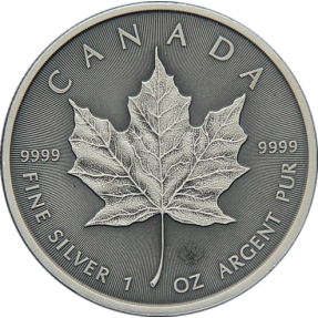 現貨 - 2016加拿大-楓葉-1盎司銀幣-仿古版