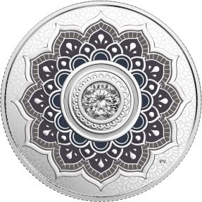 現貨 - 2018加拿大-誕生石-四月-7.96克銀幣