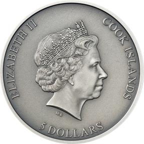 預購(確定有貨) - 2021庫克群島-隕石撞擊系列-拉謝內加-1盎司銀幣