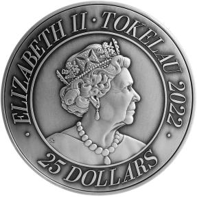 預購(限已確認者下單) - 2022托克勞-龍生九子-(5盎司銀+32.15盎司銅)銀幣