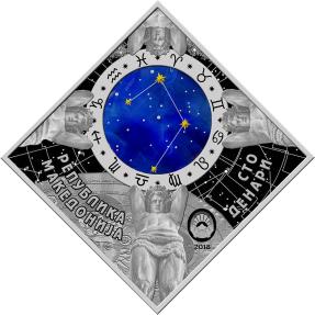 現貨 - 2018馬其頓-星座系列-天秤座-23.3克銀幣