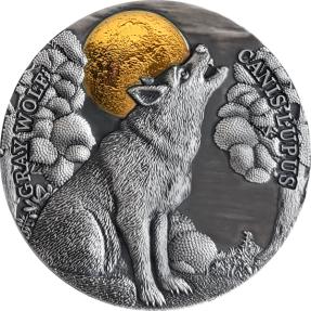 現貨 - 2020紐埃-月光下野生動物系列-狼-2盎司銀幣