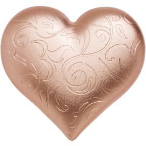 預購(確定有貨) - 2021帛琉-玫瑰色的心-心型-2盎司銀幣
