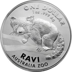 現貨 - 2018澳洲皇家-澳洲動物園系列-紅熊貓-1盎司銀幣(原廠卡裝)