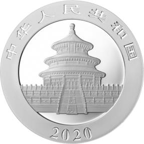 現貨 - 2020中國-熊貓-30克銀幣(普鑄)