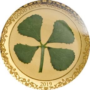 現貨 - 2019帛琉-盎司幸運系列-四葉草-1克金幣