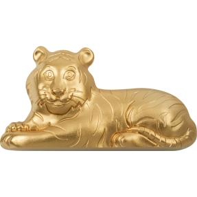 預購(確定有貨) - 2022蒙古-生肖-虎年-造型-鍍金版-1盎司銀幣