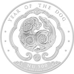 現貨 - 2018不丹-生肖-狗年-1盎司銀幣