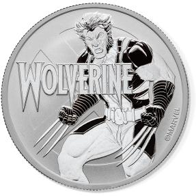 現貨- 2021吐瓦魯-Marvel系列-金鋼狼-1盎司銀幣(普鑄)