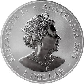 現貨 - 2021澳洲伯斯-澳大利亞最危險系列-大白鯊-1盎司銀幣(普鑄)