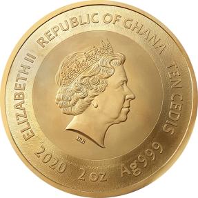 預購(確定有貨) - 2020迦納-梵谷-向日葵-2盎司銀幣