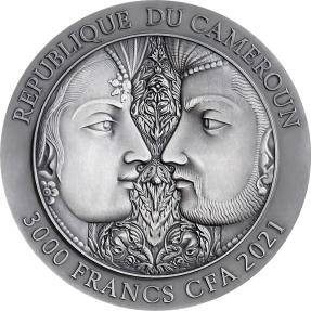 預購(確定有貨) - 2021喀麥隆-愛的時刻系列-慾經III-3盎司銀幣