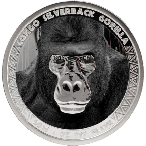 現貨 - 2016剛果-大猩猩-1盎司銀幣-彩色版