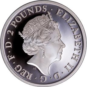 現貨 - 2017英國-大不列顛-20週年紀念-1盎司銀幣(精鑄)