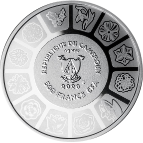 現貨 - 2020喀麥隆-花言花語系列-三色堇-17.5克銀幣