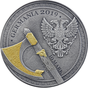 現貨 - 2019日耳曼尼亞-勇士系列-狂戰士-2盎司銀幣
