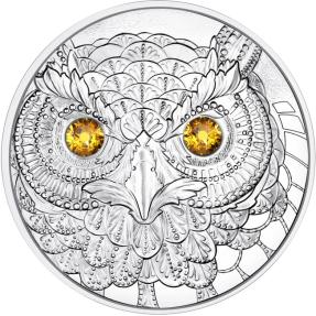 預購(限已確認者下單) - 2021奧地利-世界之眼系列-智慧貓頭鷹-22.42克銀幣