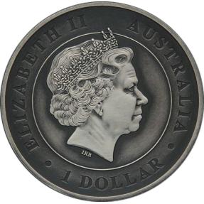 現貨 - 2015澳洲伯斯-蜘蛛-1盎司銀幣-仿古版