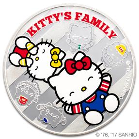 現貨 - Hello Kitty-家庭合樂-1盎司銀幣