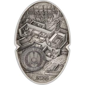 預購(確定有貨) - 2022吉布地-圖坦卡門的黃金面具-100週年紀念-3盎司銀幣