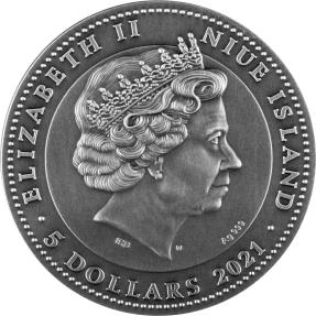 現貨 - 2021紐埃-日本代碼系列-武士道-2盎司銀幣