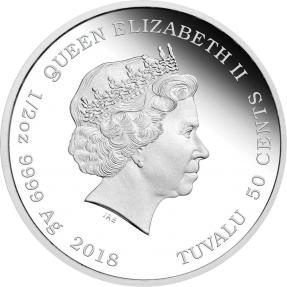 現貨 - 2018吐瓦魯-小狗-黃金獵犬-1/2盎司銀幣