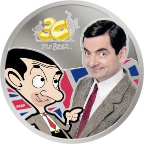 現貨 - 2020庫克群島-豆豆先生-30週年紀念-1盎司銀幣