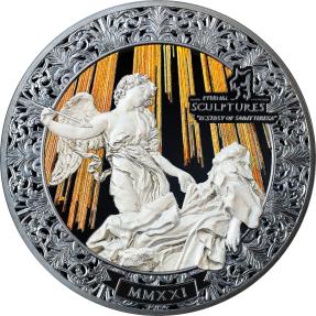 預購(確定有貨) - 2021帛琉-永恆的雕塑(特別版)-聖女大德蘭的神魂超拔-5盎司銀幣