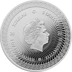 現貨 - 2020托克勞-ICON系列-戴安娜雕像-1盎司銀幣(半精鑄版)(非盒裝)
