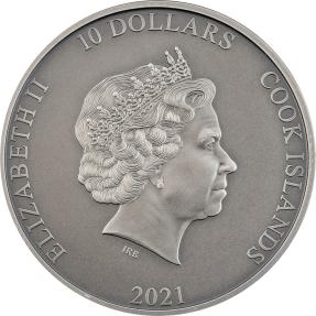 預購(確定有貨) - 2020庫克群島-神話武器系列-哪吒-2盎司銀幣