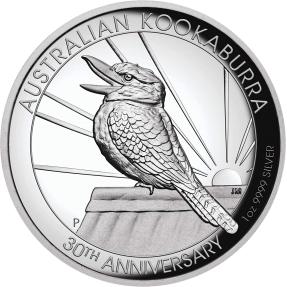 現貨 - 2020澳洲伯斯-笑鴗鳥-30週年紀念-高浮雕版-1盎司銀幣