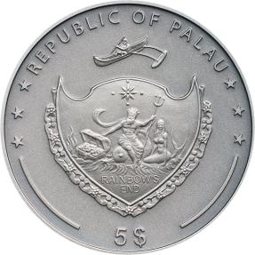 預購(即將到貨) - 2020帛琉-高浮雕動物系列-狼-1盎司銀幣