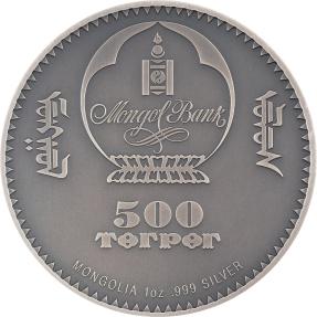 預購(確定有貨) - 2021蒙古-生命演化系列-猩猩-1盎司銀幣