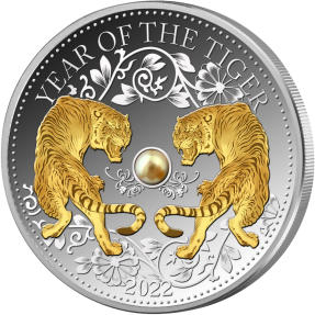 現貨 - 2022斐濟-珍珠-生肖-虎年-1盎司銀幣