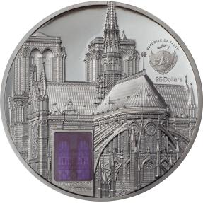 預購(確定有貨) - 2021帛琉-蒂芙尼藝術系列-巴黎聖母院-5盎司銀幣