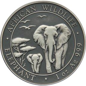 現貨 - 2015索馬利亞-象-1盎司銀幣-仿古版