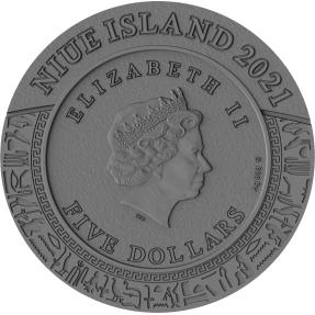 現貨 - 2021紐埃-憤怒之神系列-塞赫麥特-2盎司銀幣
