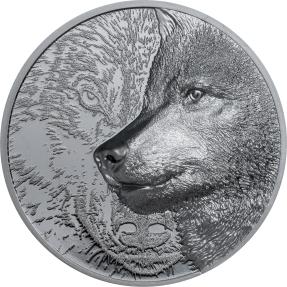 預購(確定有貨) - 2021蒙古-神秘狼-黑色版-2盎司銀幣