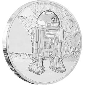 現貨 - 2016紐埃-星際大戰經典人物系列-R2D2-第四枚-1盎司銀幣