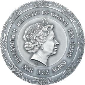 預購(限已確認者下單) - 2021迦納-健康女神-許癸厄亞-2盎司銀幣
