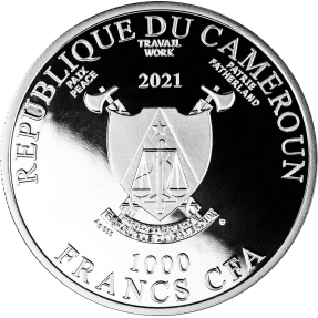 現貨 - 2021喀麥隆-牛年-時間取勝-1盎司銀幣