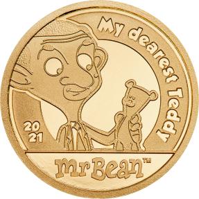 現貨 - 2021庫克群島-豆豆先生-我最親愛的泰迪-0.5克金幣