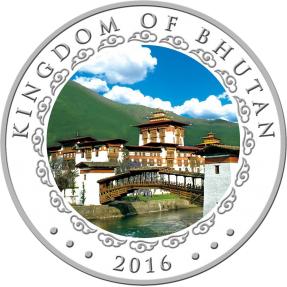 現貨 - 2016不丹-生肖-猴年-1盎司銀幣